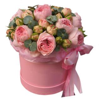 Цветы в коробке «Мон амур»